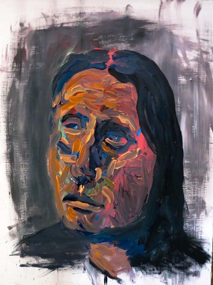 Brown portrait - Acrylic on board - 46 x 61cm (2015)